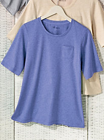 Elbow-Sleeve Heathered Tee