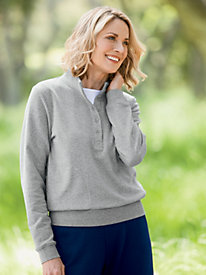 Casual Fleece Henley