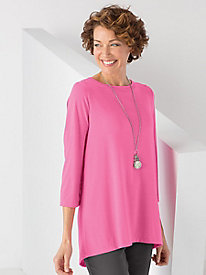 Button Back Hi-Low Tunic