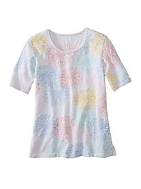 Embroidered Blossoms Tee by Koret