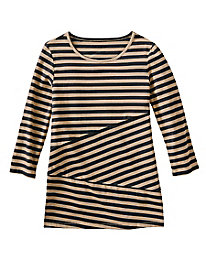 Spliced Stripes Tunic