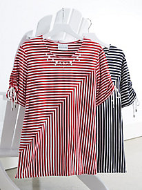 Alfred Dunner® Spliced Stripes Top