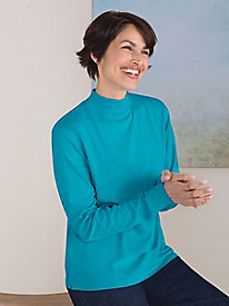 Long-Sleeve Mockneck