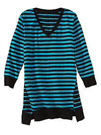Stripe-Mix Tunic by Onque