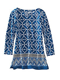 Tile Print Tunic by Rafaella
