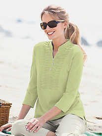 Pintucked Pleats Henley