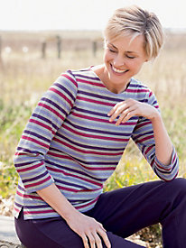 Heather-And-Stripes Tee