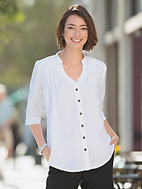 Tuck-Front Blouse