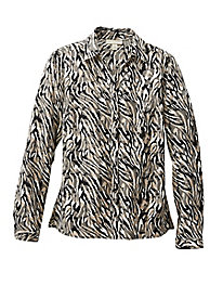 Animal-Print Blouse