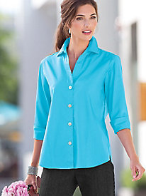 Foxcroft Y-Neck Shirt
