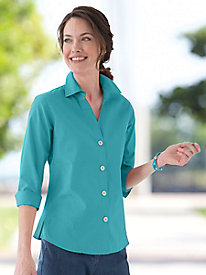 Foxcroft Three-Quarter Sleeve Shirt
