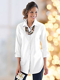 Foxcroft Wrinkle-Resistant Three-Quarter Sleeve Tunic