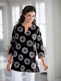 Moroccan-Print Tunic