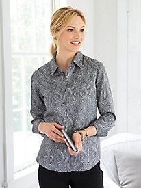 Foxcroft� Paisley Jacquard Shirt