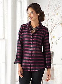 Foxcroft Satin Stripe Shirt