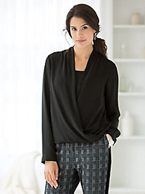Draped-Front Blouse