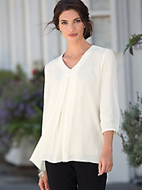 Center-Pleat Blouse