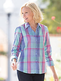 Foxcroft� Multi-Plaid Shirt
