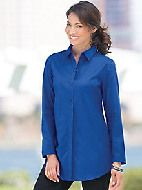 Foxcroft� Pleat-Back Tunic