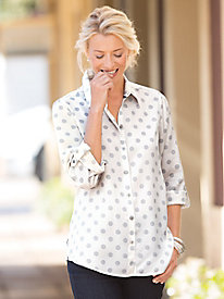 Foxcroft� Tencel Dot Shirt
