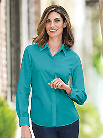 Solid Perfect Shirt by Foxcroft®