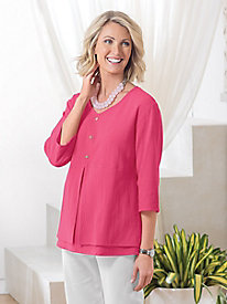 Good-To-Go Gauze Layered Top