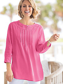 Good-To-Go Gauze Pintuck Tunic