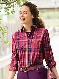 Foxcroft For Appleseeds Plaid Shirt
