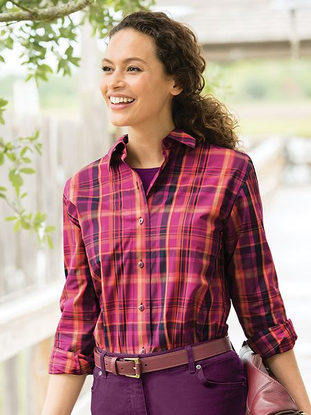 30c45155e560d Foxcroft For Appleseeds Plaid Shirt