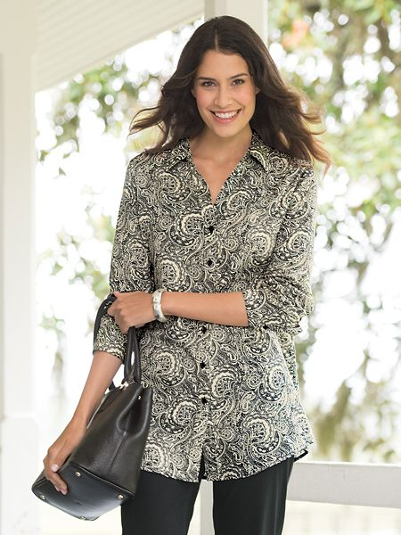 6f2979f0cc24b Foxcroft for Appleseeds Paisley Tunic