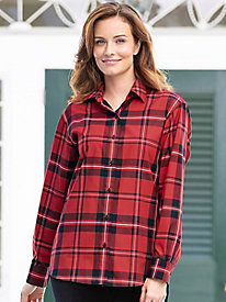 Classic Red Plaid Shirt by Foxcroft