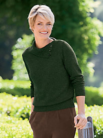Envelope Neck Pullover