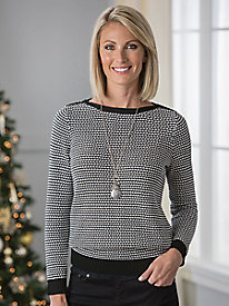 Birdseye Stitch Pullover Sweater