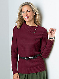 Split-Neck Sweater by Koret