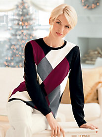Colorblock Sweater by Alfred Dunner&#174