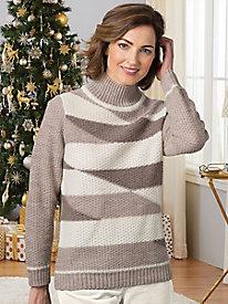 Colorblock Mockneck Sweater