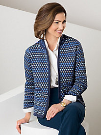 Winter Hues Jacquard Cardigan