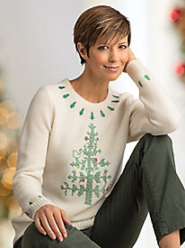 Festive Embroidered Pullover Sweater