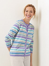 Fair Isle Embroidered Cardigan