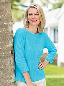 Vertical Chain-Stitch Pullover
