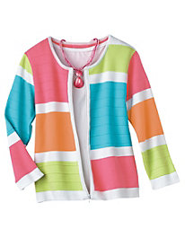'South Beach' Colorblock Cardigan