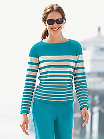 Graduated Stripe Pullover