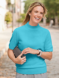 Spindrift Short Sleeve Mockneck
