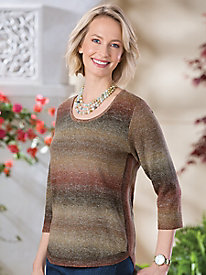 Ombre Pullover Sweater...
