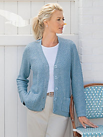 Tuck-Stitch Textured Cardigan