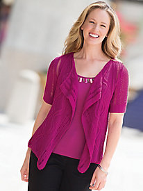 Textured Cascade Cardigan by Ruby Rd.
