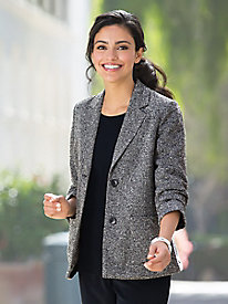 Relaxed Tweed Blazer