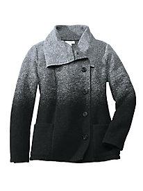 Ombr� Boiled-Wool Asymmetrical Jacket