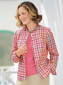 Bright Houndstooth Jacket