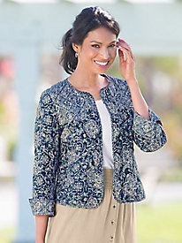 Shades Of Blue Quilted Jacket